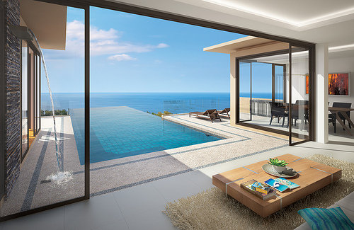 Thai interior design phuket private pool villas house for Pool design for villa